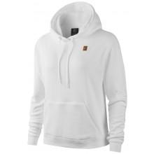 Sweat Nike Femme Heritage Molleton à Capuche Blanc