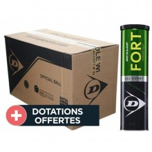 Carton De 18 Tubes De 4 Balles Dunlop Fort Tournament Select