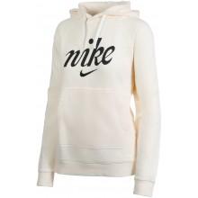 Sweat Nike Femme Sportswear à Capuche Ecru