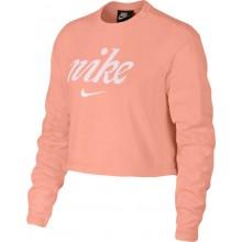 Sweat Nike Femme Crop Top Ras du Cou Corail