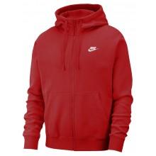 Sweat Nike Sportswear Club Zippé Rouge