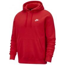 Sweat Nike Club à Capuche Rouge