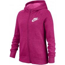Sweat à Capuche Nike Junior Fille Sportswear Zippé Rose