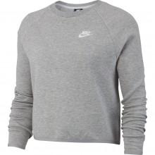 Cropped Top Sweat Nike Femme Tech Fleece Gris