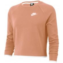 Cropped Top Sweat Nike Femme Tech Fleece Rose