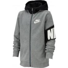 Sweat Nike Junior Core à Capuche Zippé Gris