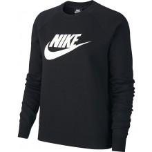 Sweat Nike Femme Sportswear Essentials Crew Fleece Noir