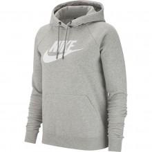 Sweat Nike Femme Sportswear Essential à Capuche Gris