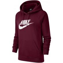 Sweat Nike Femme Sportswear Essential à Capuche Rouge