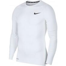 Tee-Shirt Nike Compression Manches Longues Blanc