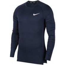 Tee-Shirt Nike Compression Manches Longues Bleu