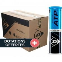 Carton De 18 Tubes De 4 Balles Dunlop ATP