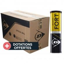 Carton De 18 Tubes De 4 Balles Dunlop Fort Elite