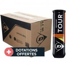 Carton De 18 Tubes De 4 Balles Dunlop Tour Performance