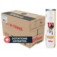 Carton De 18 Tubes De 4 Balles Wilson Tour Practice