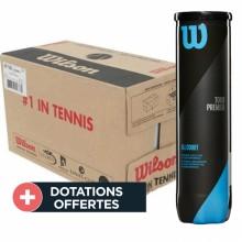 Carton De 18 Tubes De 4 Balles Wilson Tour Premier