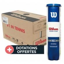Carton De 18 Tubes De 4 Balles Wilson Ultra Club