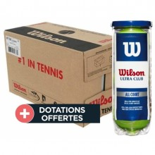 Carton De 24 Tubes De 3 Balles Wilson Ultra Club