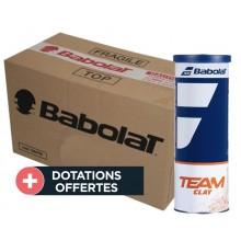 Carton De 30 Tubes De 3 Balles Babolat Team Clay
