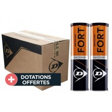Carton De 9 Bipacks De 4 Balles Dunlop Fort Clay Court