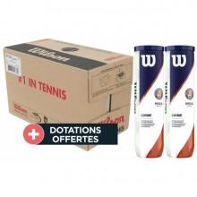 Carton De 9 Bipacks De 4 Balles Wilson Roland Garros Clay Court