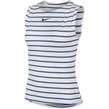 Débardeur Nike Femme Sharapova Blanc/Bleu