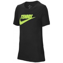 Tee-Shirt Nike Court Junior Tennis GFX Noir