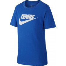 Tee-Shirt Nike Court Junior Tennis Bleu