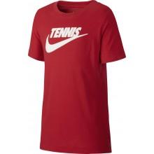 Tee-Shirt Nike Court Junior Tennis Rouge