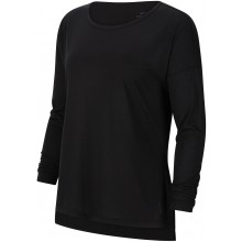 Tee-Shirt Nike Femme Dri-Fit Yoga Manches Longues Noir