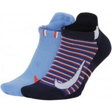 2 Paires de Chaussettes Nike Femme Extra Basses Bleues