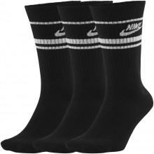 Pack de 3 Paires de Chaussettes Nike Sportswear Essential Noires
