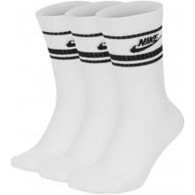 Pack de 3 Paires de Chaussettes Nike Sportswear Essential Blanches