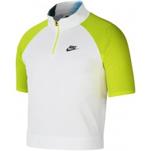 Polo Nike Court 1/2 Zippé Blanc