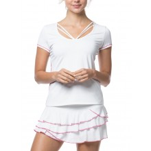Tee-Shirt Lucky In Love Ombre Strappy Blanc