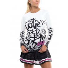 Tee-Shirt Lucky In Love Femme Love Tag Rib Manches Longues