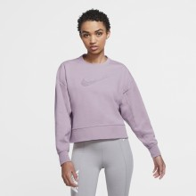 Sweat Nike Femme Dry Get Fit Crew Swoosh Violet