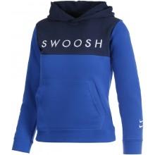 Sweat Nike Junior Swoosh à Capuche Bleu
