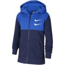 Sweat Nike Junior à Capuche Zippé Bleu