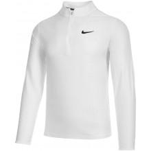 Tee-Shirt Nike Court Breathe Advantage Dri-Fit 1/2 Zip Manches Longues Blanc