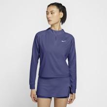 Tee-Shirt Nike Femme à Manches Longues 1/2 Zip Marine