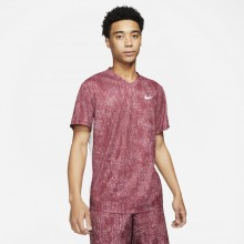 Tee-Shirt Nike Court Dry Victory Top Print Violet