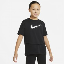Tee-Shirt Nike Junior Fille Dri-Fit Trophy Noir