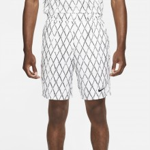 Short Nike Court Victory Print 9In Blanc