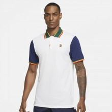 Polo Nike Heritage Slim Kyrgios New-York Blanc