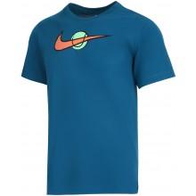 Tee-Shirt Nike Court Swoosh Tennis Bleu