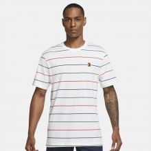 Tee-Shirt Nike Court Heritage Stripes Blanc