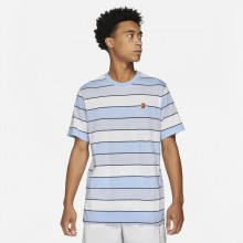 Tee-Shirt Nike Court Heritage Stripes Bleu