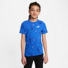 Tee-Shirt Nike Junior Garçon Sportswear Bleu