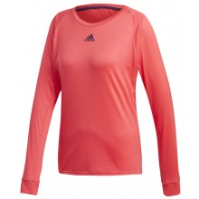 Tee-Shirt Adidas Femme Escouade Manches Longues Rouge